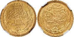 100 Piastre Sultanat Ägypten (1914 - 1922) Gold Hussein Kamil (1853 - 1917)