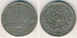 100 Reis Empire of Brazil (1822-1889) Copper/Nickel