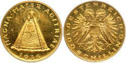 100 Shilling Federal State of Austria (1934-1938) Gold