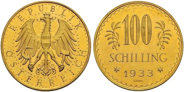 100 Shilling First Austrian Republic (1918-1934) Gold