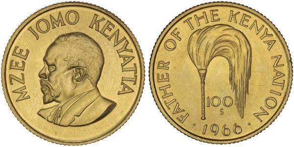 100 Shilling Kenia Gold Jomo Kenyatta