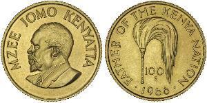 100 Shilling Kenya Gold Jomo Kenyatta