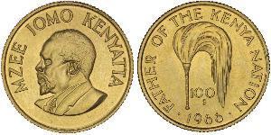 100 Shilling Kenia Oro Jomo Kenyatta