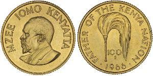 100 Shilling Kenya Oro Jomo Kenyatta