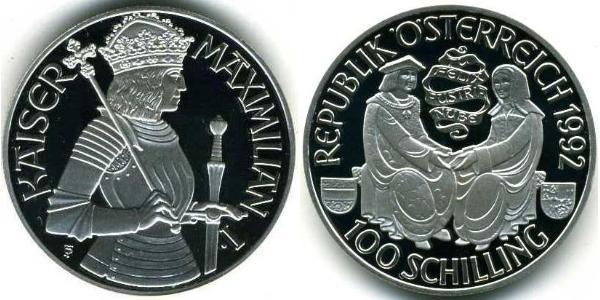 100 Shilling Republik Österreich (1955 - ) Silber