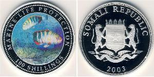 100 Shilling Somalia Silber