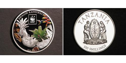 100 Shilling Tansania Silber