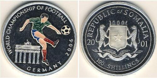 100 Shilling Somalia Silver