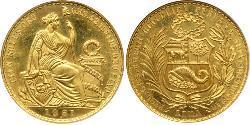100 Sol 秘鲁 金