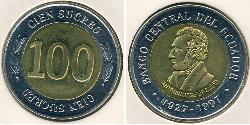 100 Sucre Ecuador Bimetal