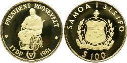 100 Tala Samoa Gold
