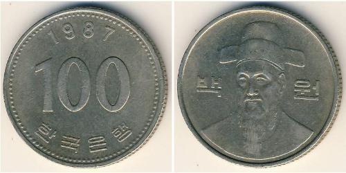 100 Won South Korea Copper/Nickel