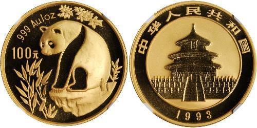 100 Yuan Chine Or