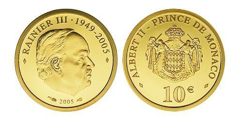 10 Євро Монако Золото