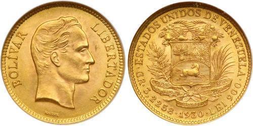 10 Боливар Венесуэла Золото Simon Bolivar (1783 - 1830)