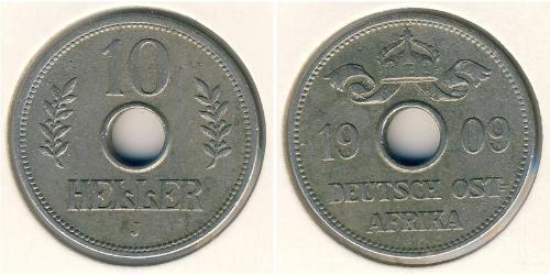 10 Геллер Германская Восточная Африка (1885-1919)