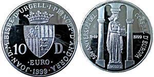 10 Динер Андорра Серебро