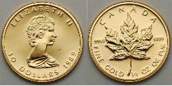 10 Долар Канада Золото Єлизавета II (1926-)
