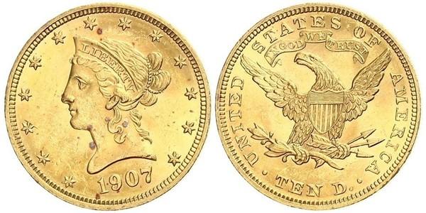 10 Долар США (1776 - ) Золото