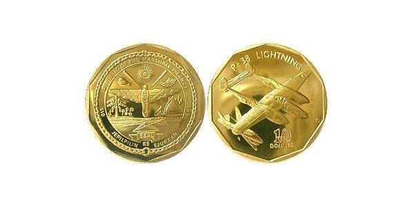 10 Долар Маршаллові Острови Латунь