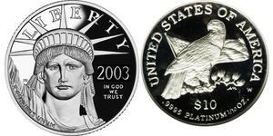 10 Долар США (1776 - ) Платина