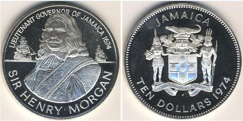 10 Долар Ямайка (1962 - ) Срібло Генрі Морган