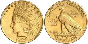 10 Доллар США (1776 - ) Золото