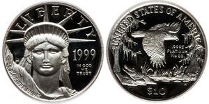 10 Доллар США (1776 - ) Платина