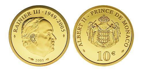 10 Евро Монако Золото