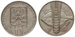 10 Злотий Польська Народна Республіка (1952-1990) Нікель/Мідь