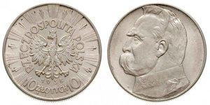10 Злотий Польська республіка (1918 - 1939) Срібло Юзеф Пілсудський