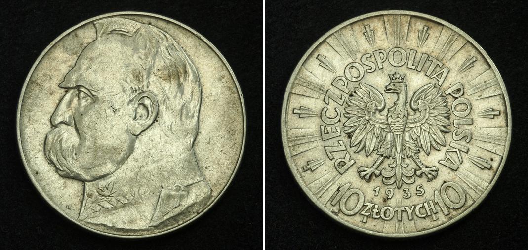 10 злотых 1936 года цена пилслуцкий редкие немагнитные монеты россии