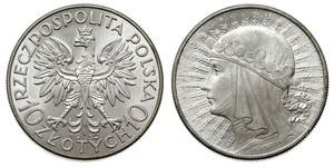 10 Злотый Польская Республика (1918 - 1939) Серебро Ядвига (королева Польши)