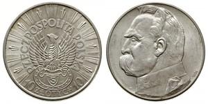 10 Злотый Польская Республика (1918 - 1939) Серебро Пилсудский, Юзеф