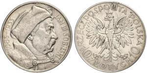 10 Злотый Польша / Польская Республика (1918 - 1939) Серебро Ян III Собеский (1629-1696)