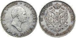 10 Злотый Царство Польское (1815-1915) Серебро Александр I (1777-1825)