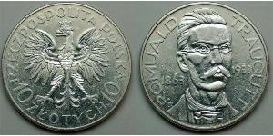 10 Злотый Польская Республика (1918 - 1939)  Траугутт, Ромуальд