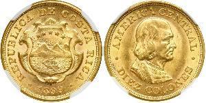 10 Колон Коста-Рика Золото Христофор Колумб (1451 - 1506)