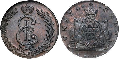 10 Копійка Російська імперія (1720-1917) Мідь Катерина II (1729-1796)
