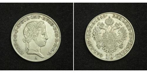 10 Крейцер Австрийская империя (1804-1867) Серебро
