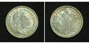 10 Крейцер Австро-Венгрия (1867-1918) Серебро Франц Иосиф I (1830 - 1916)