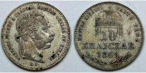 10 Крейцер Австро-Венгрия (1867-1918) / Королевство Венгрия (1000-1918) Серебро Франц Иосиф I (1830 - 1916)