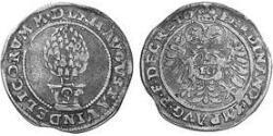 10 Крейцер Аугсбург (1276 - 1803) Серебро Фердинанд I император Священной Римской империи (1503-1564)