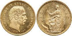 10 Крона Дания Золото Кристиан IX король Дании (1818-1906)