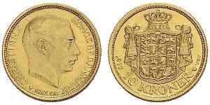 10 Крона Дания Золото Кристиан X (король Дании) (1870 - 1947)