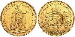 10 Крона Королiвство Угорщина (1000-1918) Золото Франц Иосиф I (1830 - 1916)