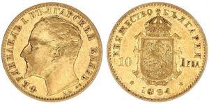10 Лев Болгарія Золото Фердинанд I, царь Болгарії (1861 -1948)