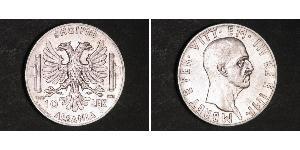 10 Лек Albanian Kingdom (1939-1943) Срібло Віктор Емануїл III (1869 - 1947)
