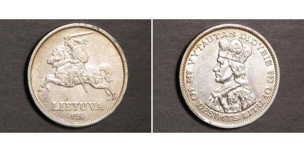 10 Лит Литва (1991 - ) Серебро Витовт