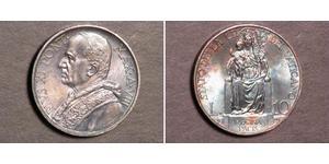 10 Ліра Ватікан (1926-) Срібло Pope Pius XI (1857 - 1939)